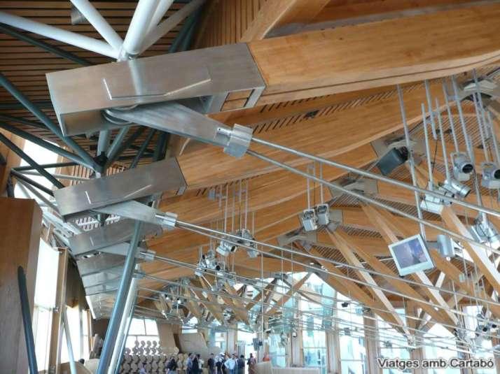 Detall Sostre Sala Plens Parlament d'Escòcia