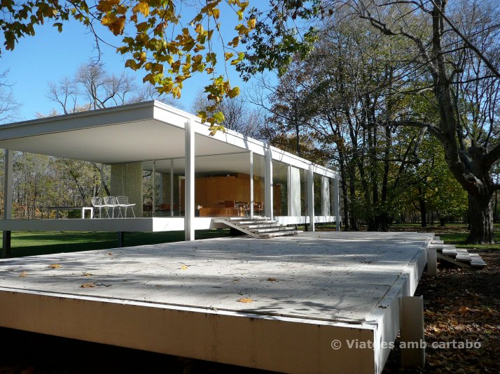 Entrada a la Farnsworth House
