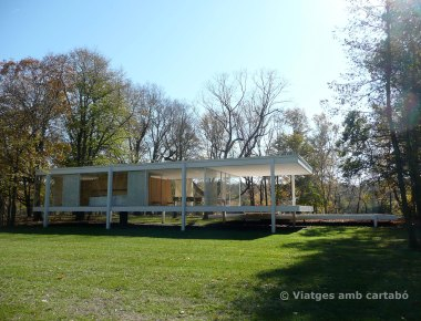 La casa Farnsworth per darrera