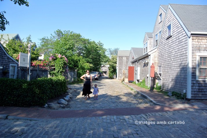 Carrer tranquil a Nantucket