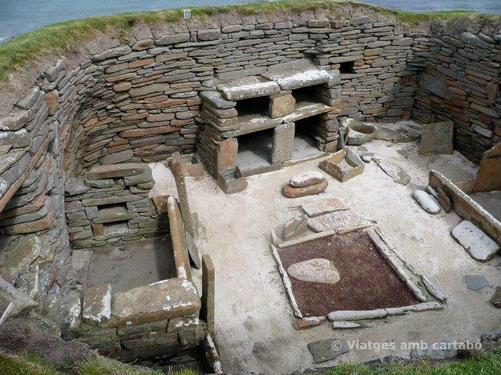 Casa Skara Brae des de dalt