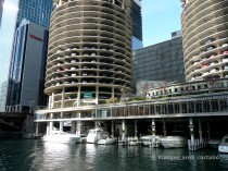 Moll de les Twin Corncob Towers a Marina City
