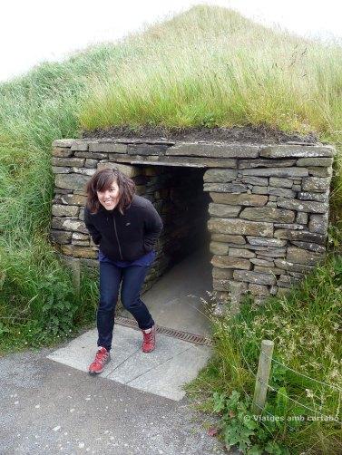Sortida d'una casa d'Skara Brae