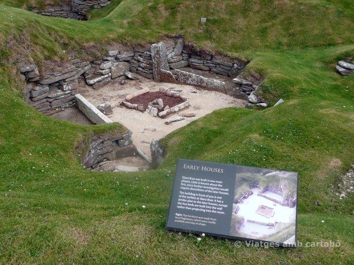 Una de les cases més antigues d'Skara Brae