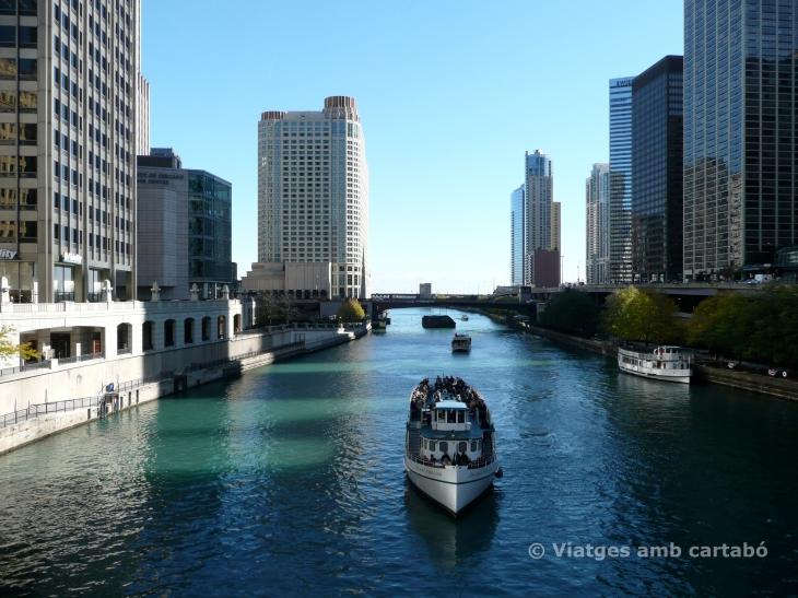 Vistes de Chicago des del Chicago River