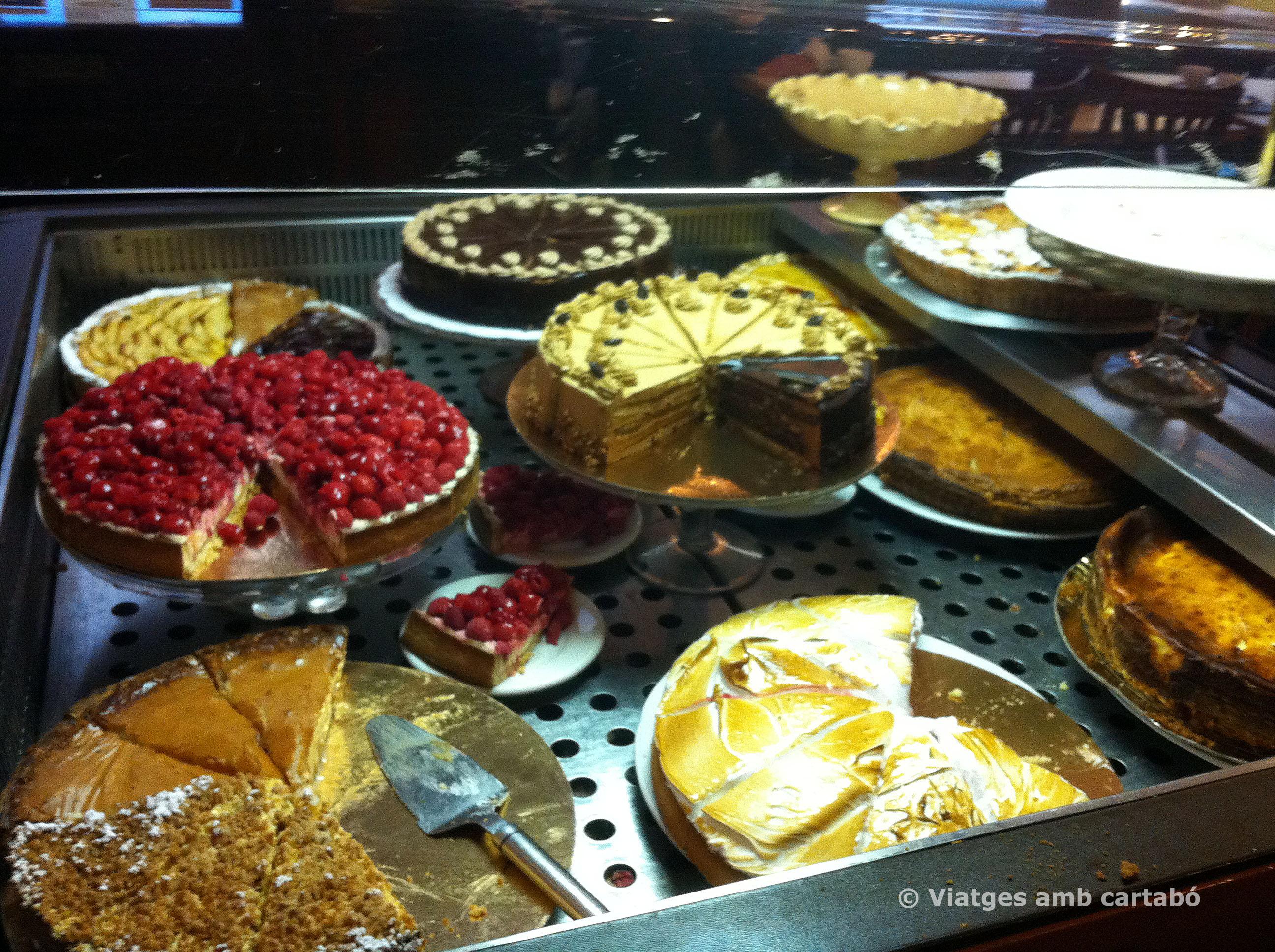 Carro pastissos Le Mocafé