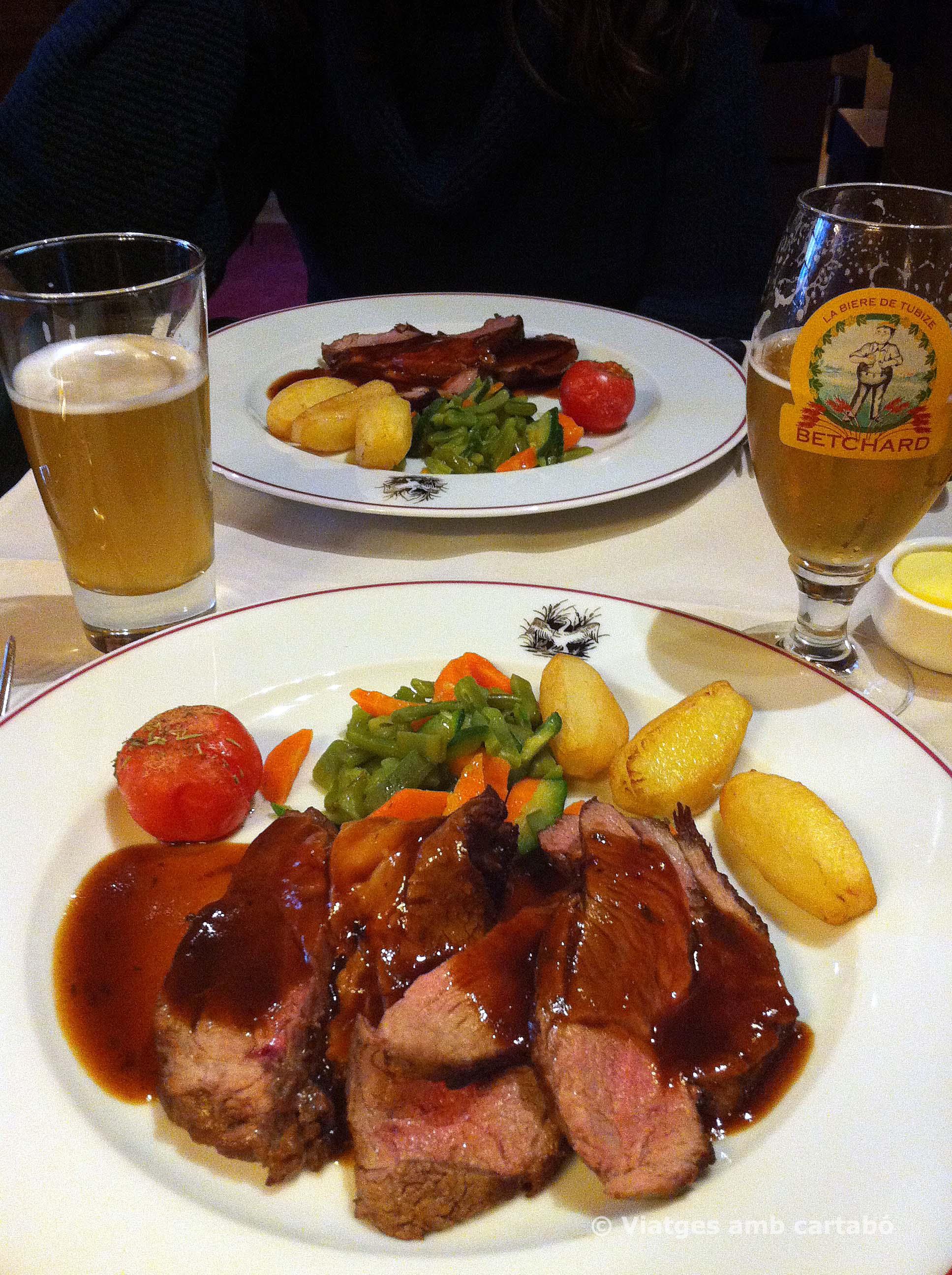 Dinar a la Brasserie Ommegang