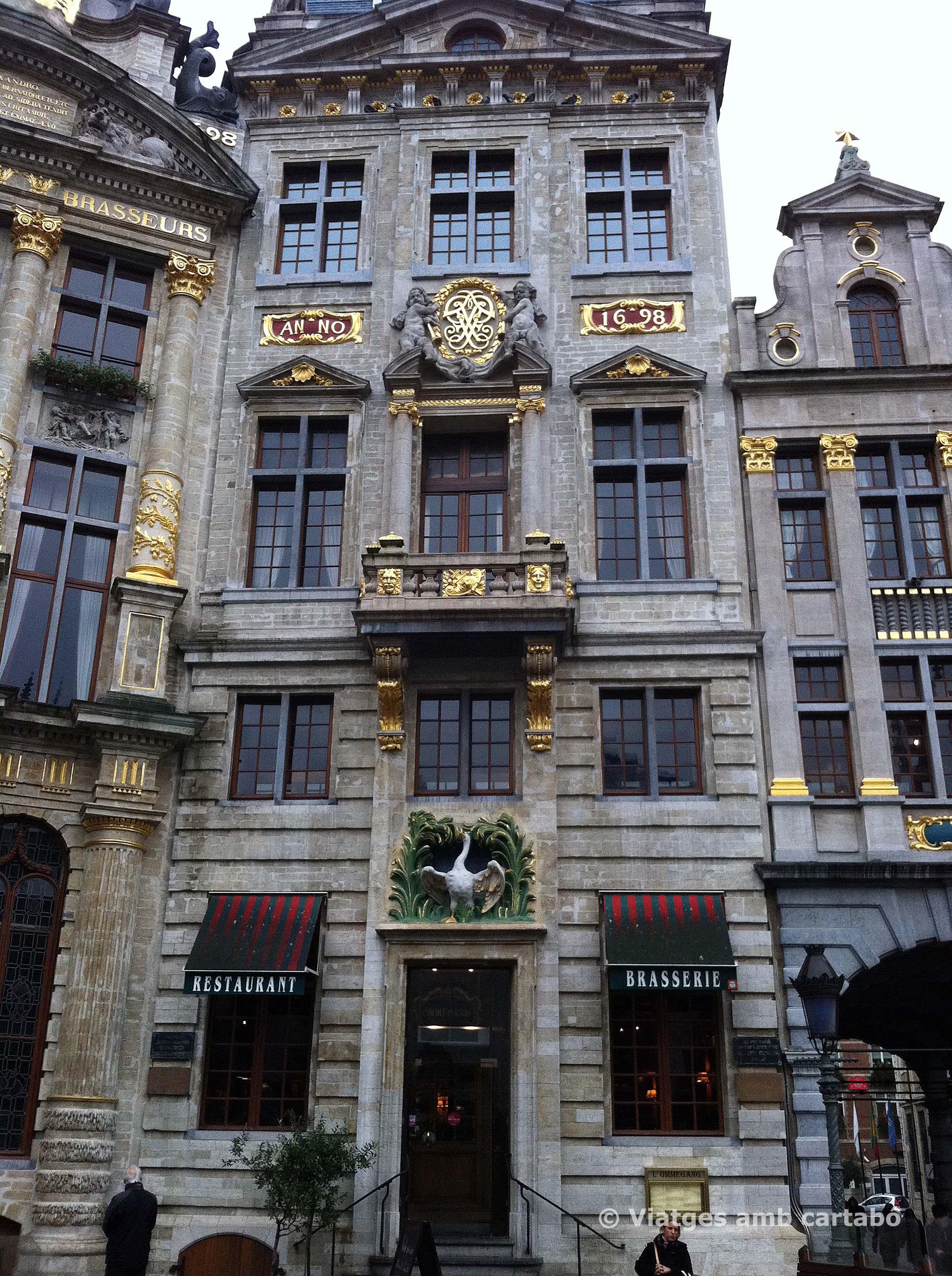 Façana Brasserie Ommegang a la Grande Place
