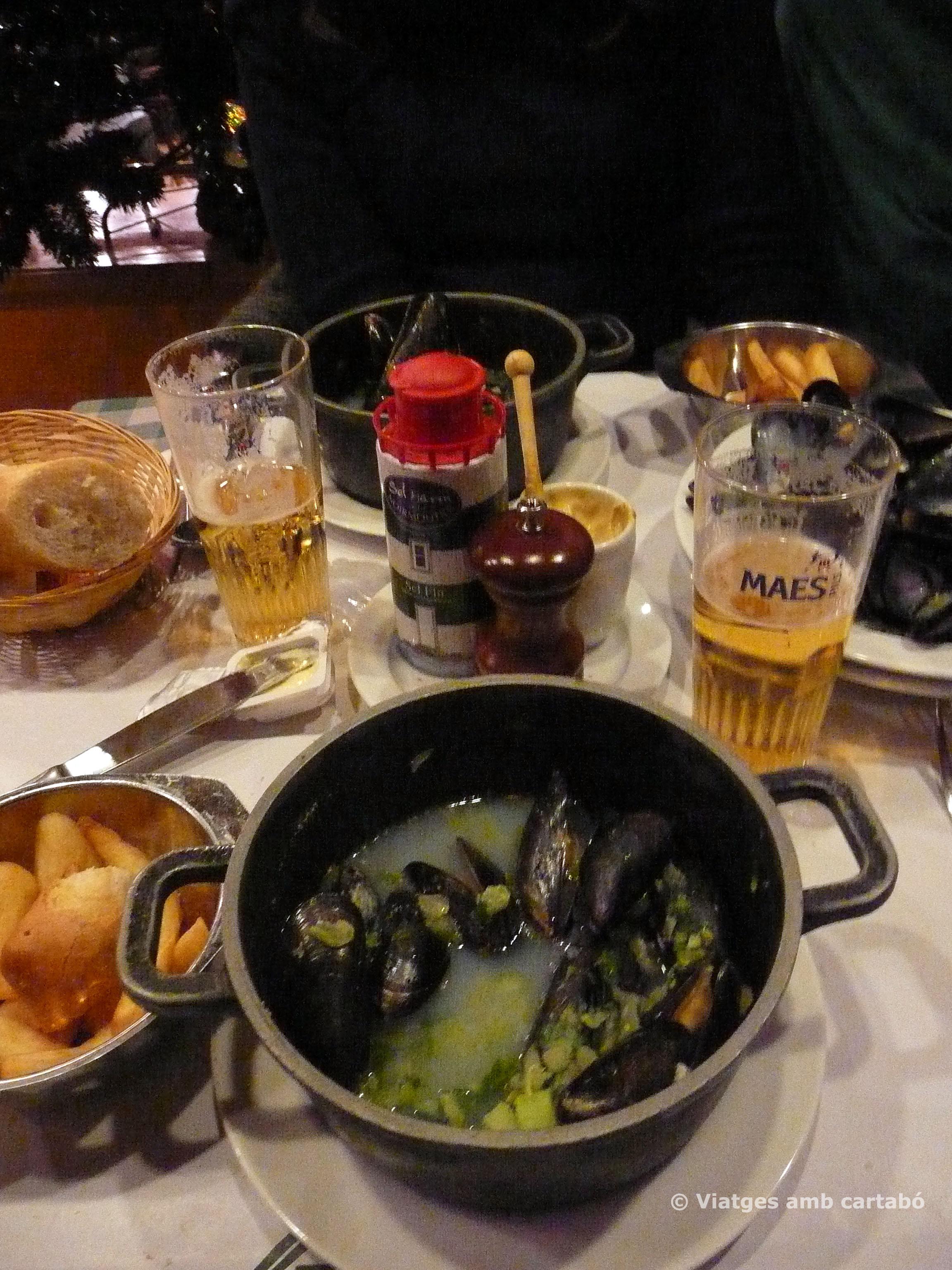 Moules&frittes a Chez Leon