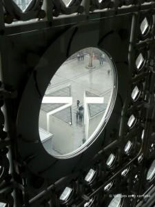 Vista de la plaça des de l'Institut del Món Àrab