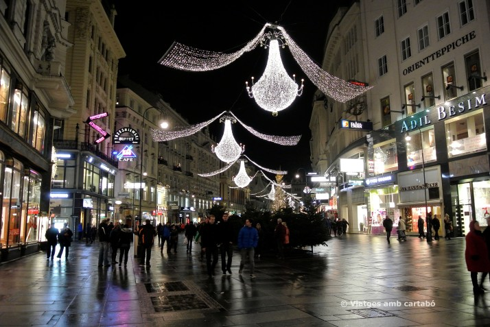 Carrers engalanats al centre de Viena