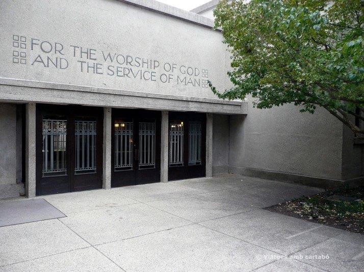 Entrada Unity Temple de Frank Lloyd Wright
