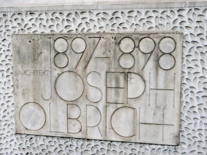 Placa Joseph Maria Olbrich