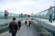Londres Millenium Bridge i St Paul Cathedral