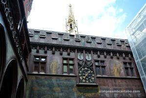 Ajuntament Basilea façana rellotge