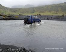 Riu que s'ha de creuar per anar a Poórsmörk. Millor amb un conductor expert!