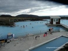 Els banys de Myvatn són més petits però més tranquils que la Blue Lagoon