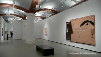 Darrera Sala de l'exposició de Tàpies al MNAC