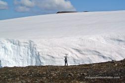 """El port de Heidarvatn amb una """"mica"""" de neu"""