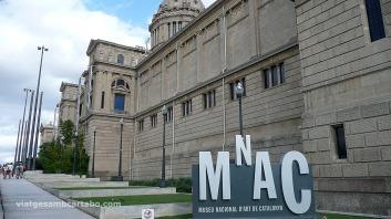 MNAC Rampa cap a l'entrada del Museu