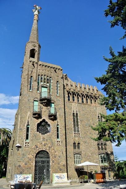 Façana i torre de la Torre de Bellesguard