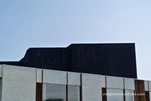 Lateral de la Nòrdic House detall de llistons de fusta exterior