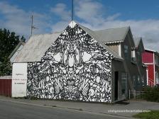 Akureyri Casa amb graffitti a la façana