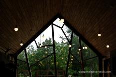 Café Bjork Joc de reflexes amb la natura de fons