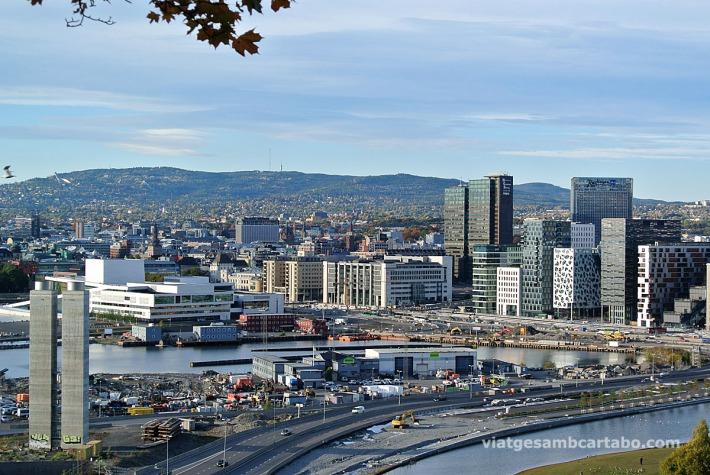 Vistes d'Oslo des del camí de tornada de l'Ekeberg Parken