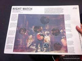 Cartell explicatiu de la Ronda de nit de Rembrandt