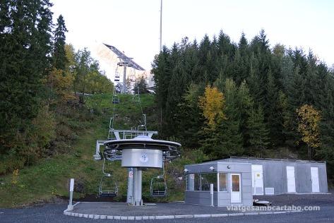 Telecadira a l'estació de Holmenkollen