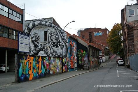 Vulkan carrer grafitis