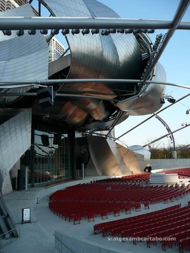 Escenari de l'Auditori Pritzker Pavillion de Frank Gehry