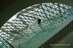 Teranyina instal·lació des de les escales