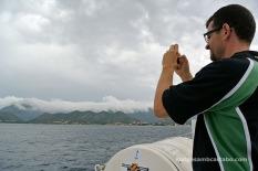 Fent fotos des del vaixell