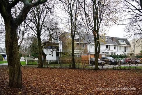 Rietveld House des del parc