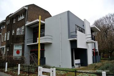Rietveld House des d'una cantonada