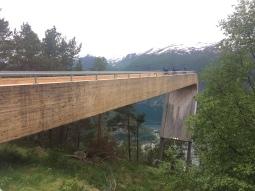 30 metres de mirador a Stegastein